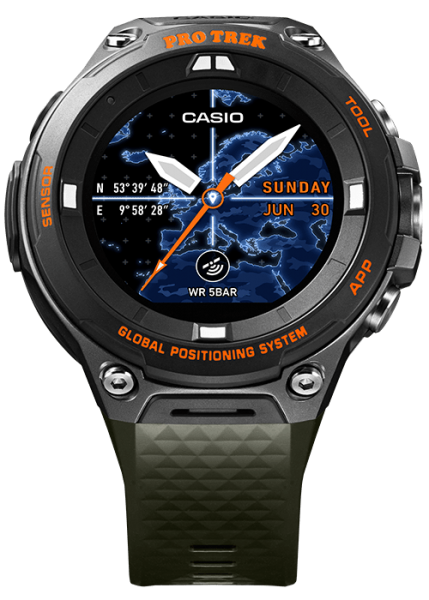 Casio Pro Trek Smartwatch Herrenuhr Outdoor WSD-F20A-GN