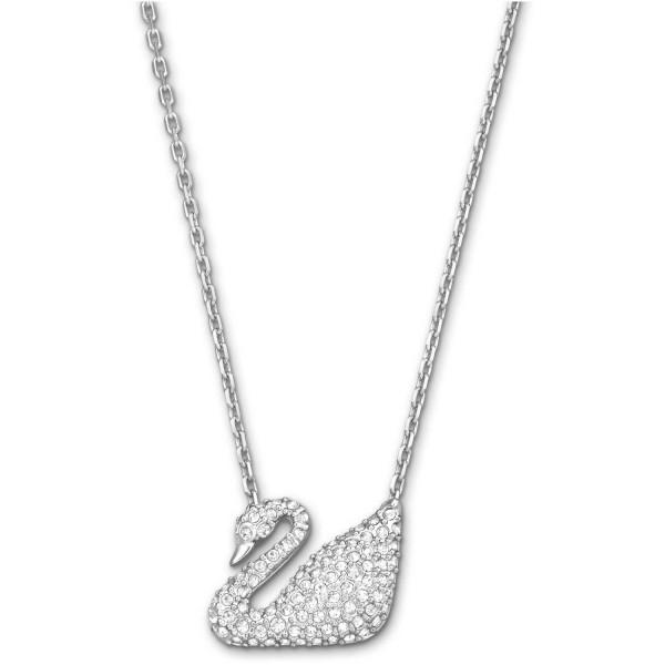 Swarovski Swan Halskette, Rhodium, Crystal, 5007735