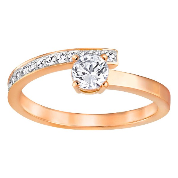 SWAROVSKI FRESH RING SML CRY/CZWH/ROS 52 , ROSE GOLD , CRYSTAL 5251684