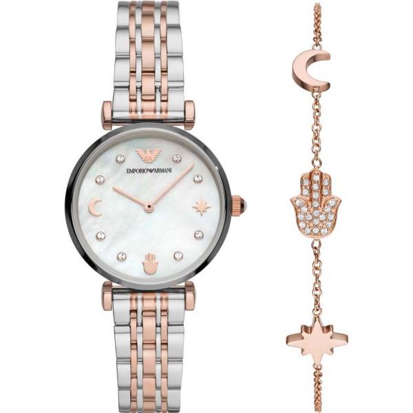 Emporio Armani Damenuhr und Armband AR80037