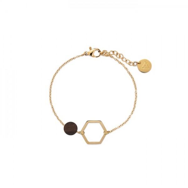 Kerbholz Damenschmuck Twin Charm Bracelet GEOTWI5277
