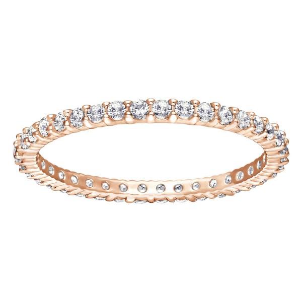 Swarovski, Vittore Ring, Gr. 55, weiß, Roségold, 5083129