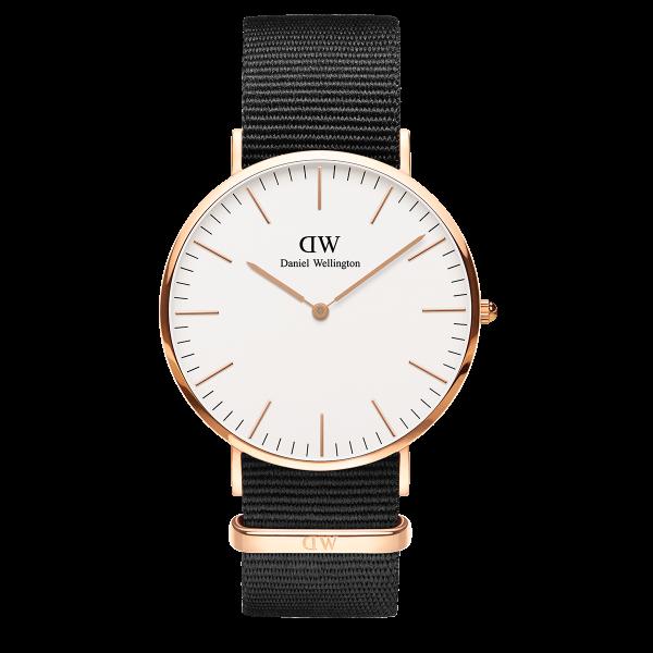 Daniel Wellington Herrenuhr Classic Cornwall White DW00100257