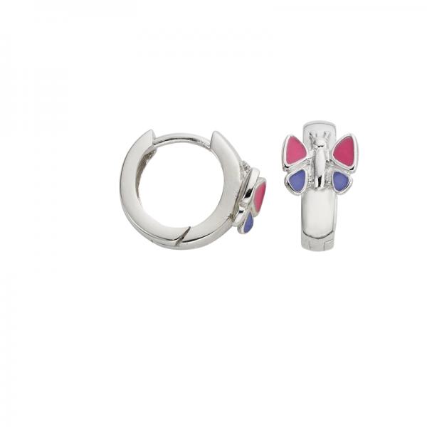 CEM 925 er Silber Creolen Schmetterling BCR900546