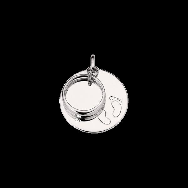 CEM 925er Silber Gravurplatte mit Taufring BAH905406