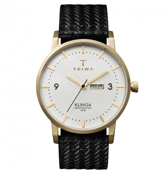 Triwa Unisexuhr Ivory Klinga Black Giza Classic Armbanduhr TRKLST103GC010113
