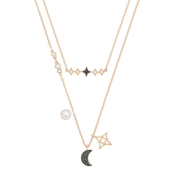 Swarovski Glowing Halskette Moon Set DMUL/MIX dark Multi, 5273290