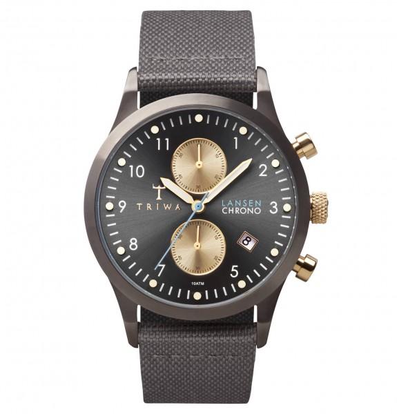 Triwa Walter Lansen Chrono Gray Canvas Classic Armbanduhr TRLCST101CL061613