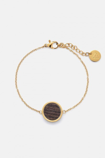 Kerbholz Damenschmuck Circle Bracelet sandalwood Shiny Gold GEOCIR1132
