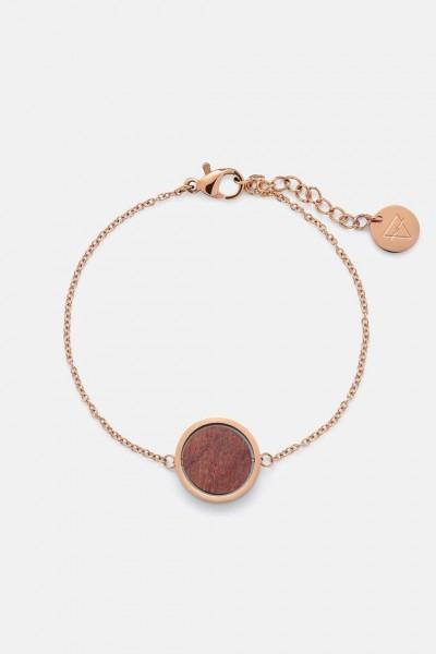 Kerbholz Damenschmuck Circle Bracelet Rosewood Shiny Rosegold GEOCIR1149