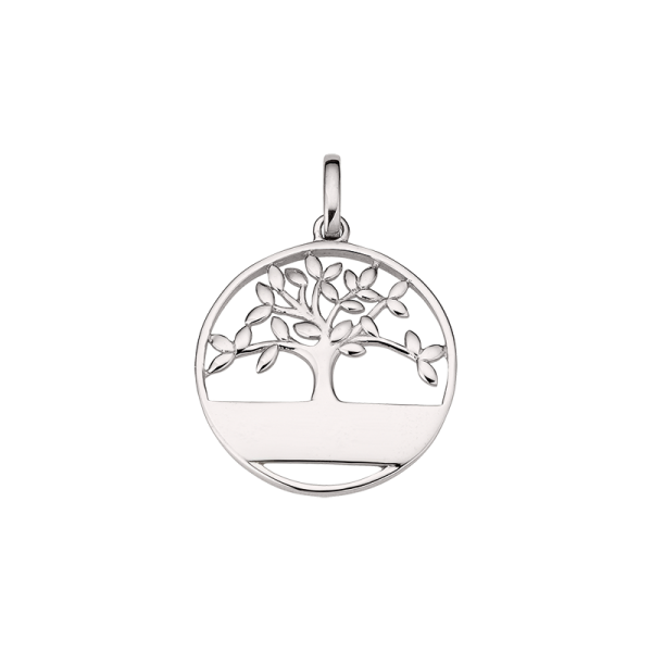 CEM 925er Silber Gravuranhänge mit Baum BAH905403