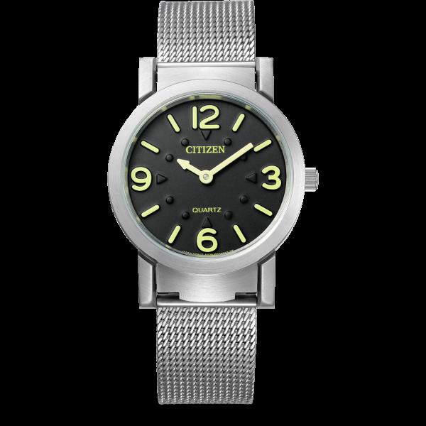 Citizen Damenuhr Armbanduhr für Blinde und Sehbehinderte AC2200-55E
