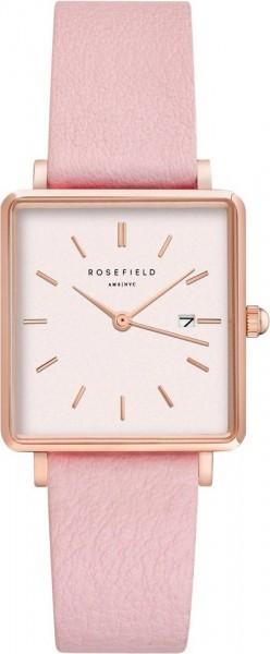 Rosefield Damenuhr The Boxy White Pink Rosegold QWPR-Q11