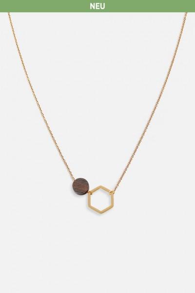 Kerbholz Damenschmuck Twin Necklace GEOTWI5338