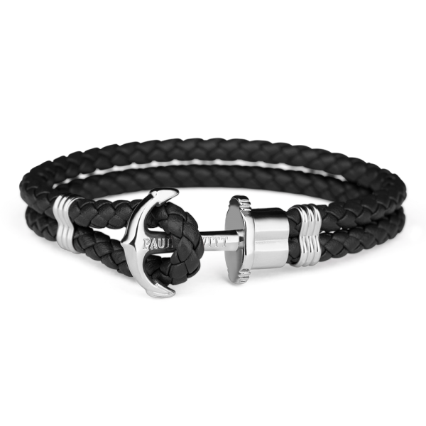 Paul Hewitt Ankerarmband PHREP IP Silber Schwarz PH-PH-L-S-B-XL