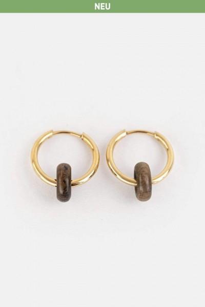 Kerbholz Damenschmuck Donut Earring GEODON7318