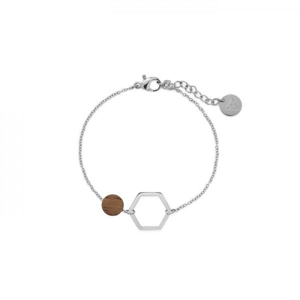 Kerbholz Damenschmuck Twin Charm Bracelet GEOTWI5291