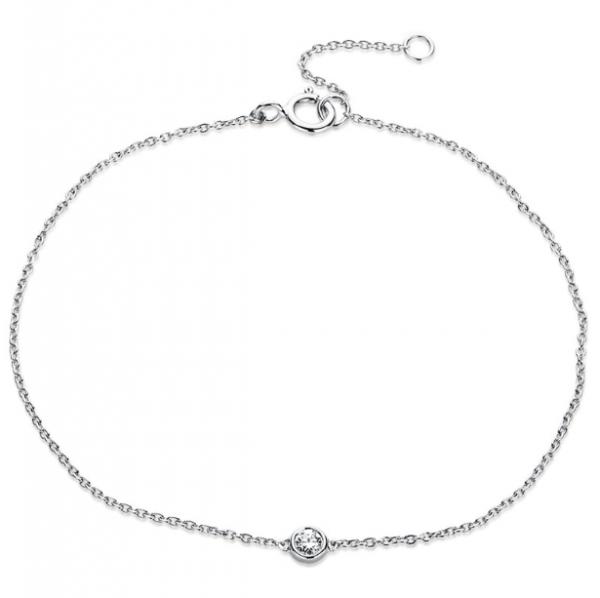 Diamant Schmuck Armband 18 kt ,1 Brill. 0,05 ct