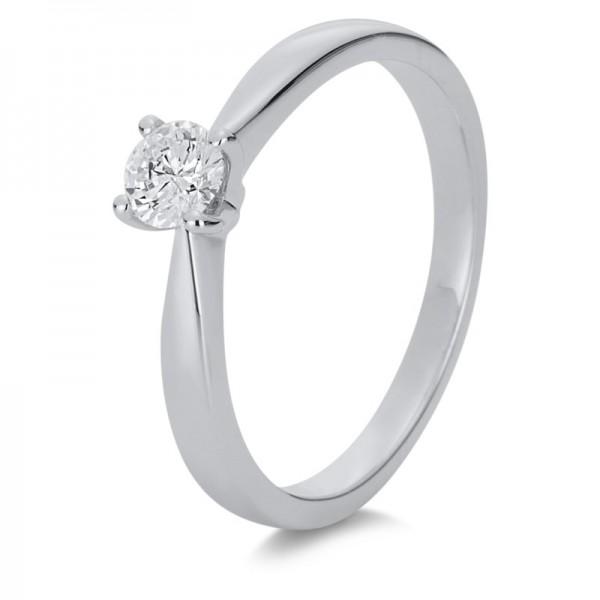 Solitaire Ring 585er Weißgold 14kt 0,29ct Ring Größe: 52