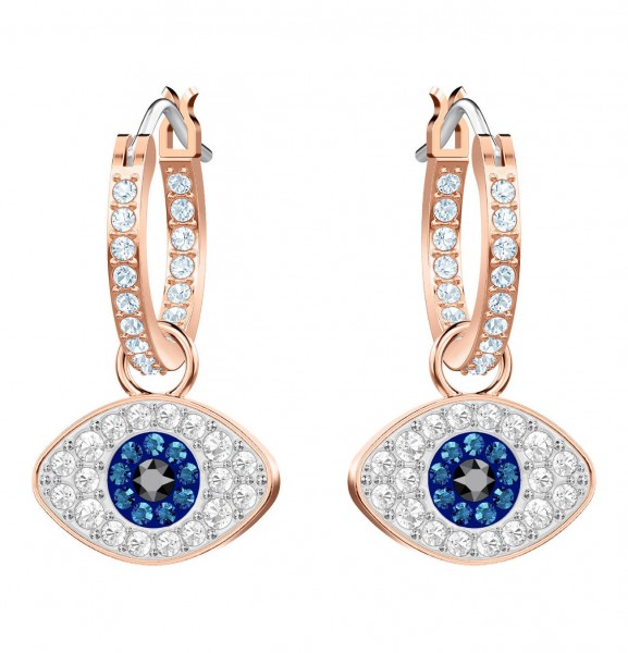 Swarovski Duo Ohrstecker Hoop Evil Eye 5425857