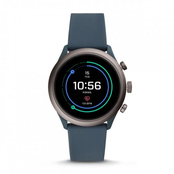 Fossil Smartwatch Sport Silikon Raucheblau FTW4021 4. Generation