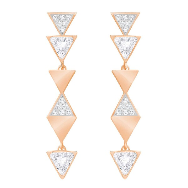 SWAROVSKI HEROISM OHRSTECKER LNG CRY/ROS , ROSE GOLD , CRYSTAL 5364221