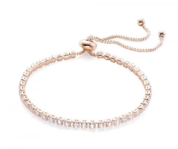 Damenarmband mit Steinbesatz roségold