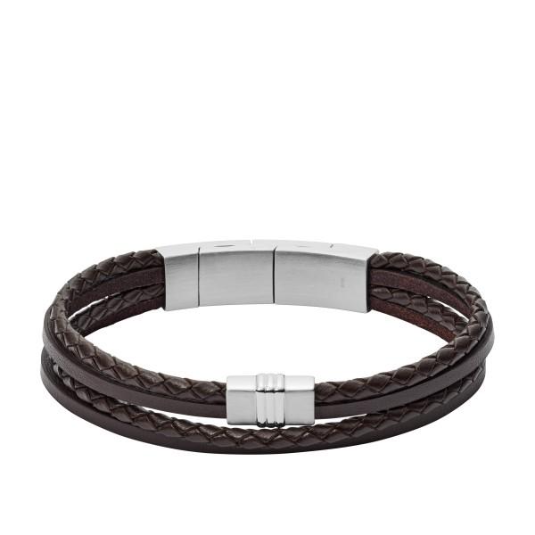 Fossil Herrenarmband JF02934040 Leder Braun
