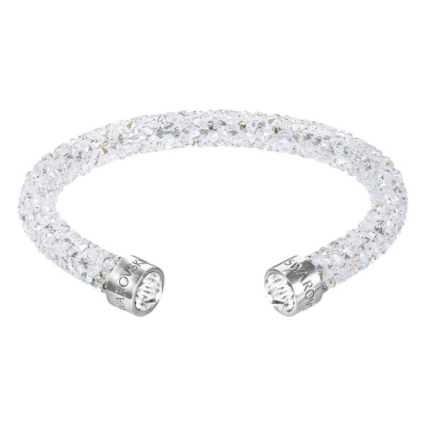 SWAROVSKI CRYSTALDUST CUFF CRYMOL/STS S , STAINLESS STEEL, CRYSTAL MOONLIGHT 5255899