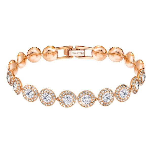 Swarovski Angelic Armband, M, roségold, Crystal 5240513