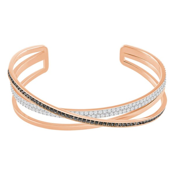 SWAROVSKI HERO ARMREIFCRYSINI/ROS M , ROSE GOLD , CRYSTAL SILVER NIGHT 5299460