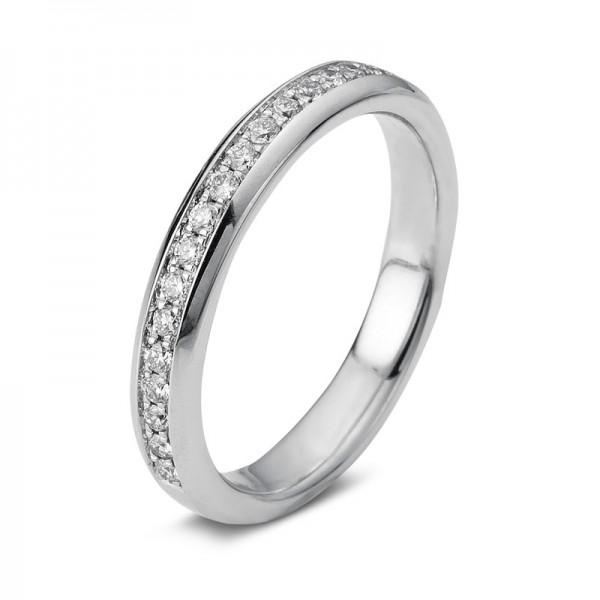 Memoire halb Ring 750er Weißgold 18kt 0,24ct Ring Größe: 53,5