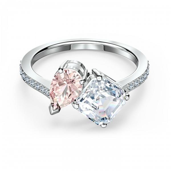 Swarovski Attract Soul Ring, rosa, rhodiniert, Größe 55, 5514541