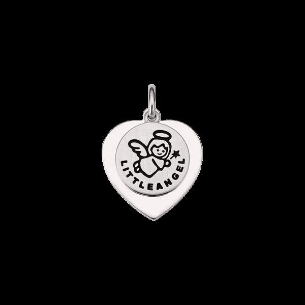 CEM 925er Silber Gravurplatte Herz und Schutzengel BAH905411