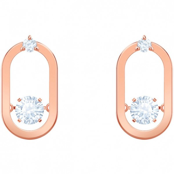 amazon Luxus-Ästhetik neuer Stil Swarovski North Ohrringe, weiss, rosé Vergoldung North Ohrringe, weiss,  rosé 5468118