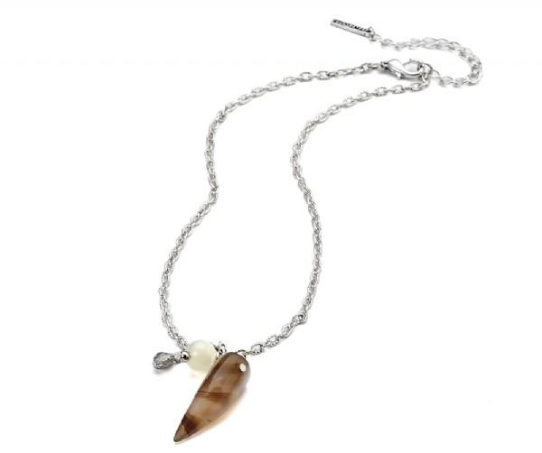 Damen Halskette mit Steinanhänger
