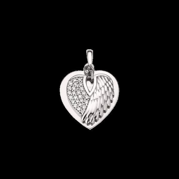 CEM 925er Silber Gravurplatte Herz und Flügel BAH905408