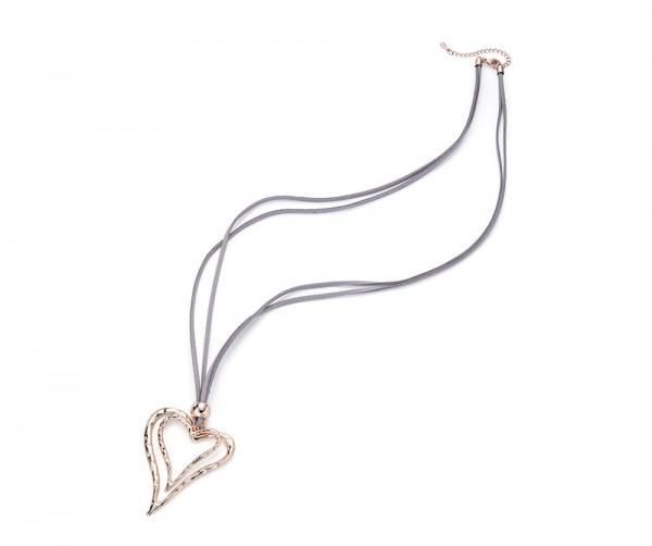 Damen Halskette Doppelherz