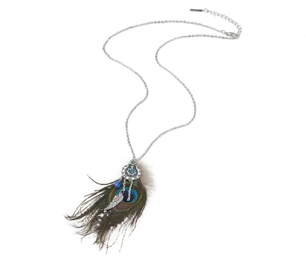 Damen Halskette Feather