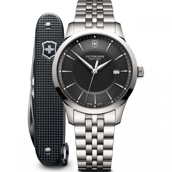Victorinox Herrenuhr Alliance mit Pioneer Taschenmesser in schwarz 241801.1