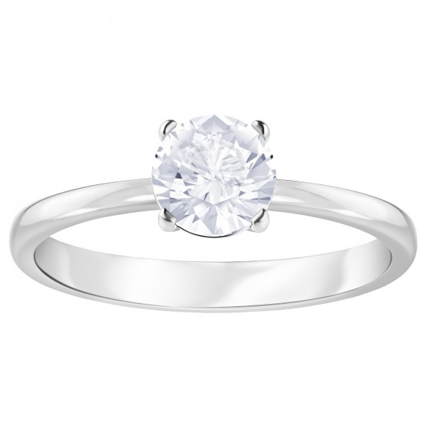 Swarovski Attract Ring, Gr. 55 , rhodium, weiß, 5368542