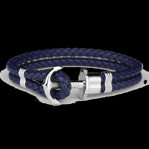 Paul Hewitt Ankerarmband PHREP IP Silber Marineblau PH-PH-L-S-N-L