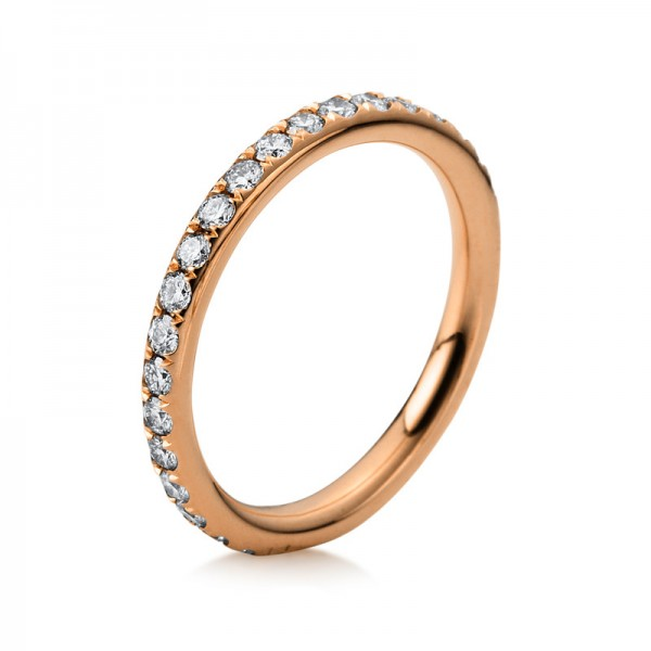 Memoire voll Ring 750er Rotgold 18kt 0,61ct