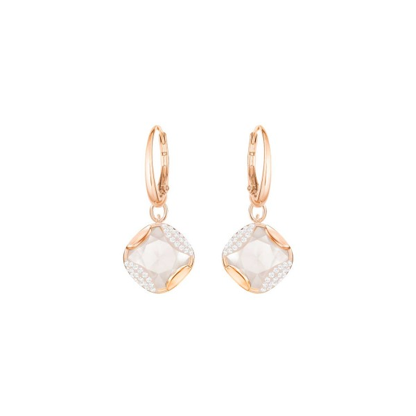 SWAROVSKI HEAP OHRSTECKER SQ LMUL/ROS , ROSE GOLD , LIGHT MULTI 5364315