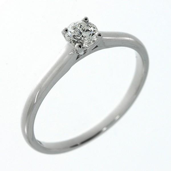 Solitaire Ring 585er Weißgold 14kt 0,31ct Ring Größe: 54