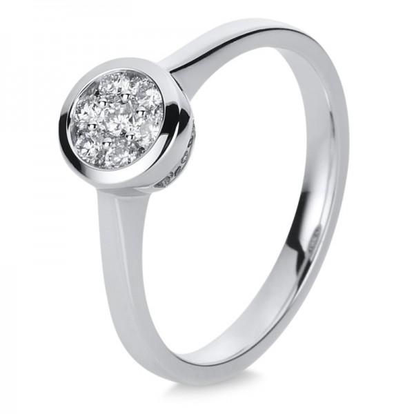Illusion Ring 585er Weißgold 14kt 0,25ct Ring Größe: 53