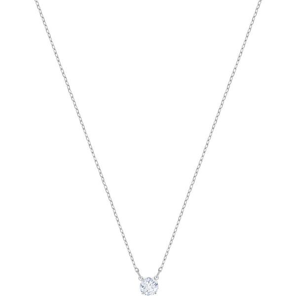 Swarovski Attract Round Halskette, weiß, rhodiniert 5408442