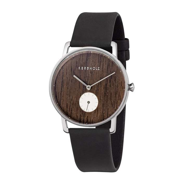 9e51d57b41ec9 Kerbholz Damenuhr Frida-Walnut-Silver-Midnight Black   RM-Time - Markenuhren    Schmuck Online Shop