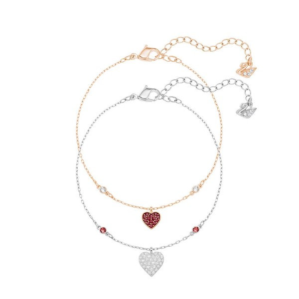 SWAROVSKI CRY WISHES ARMBAND HEART SIAM/CRY/MIX M , MIX , SIAM 5272249