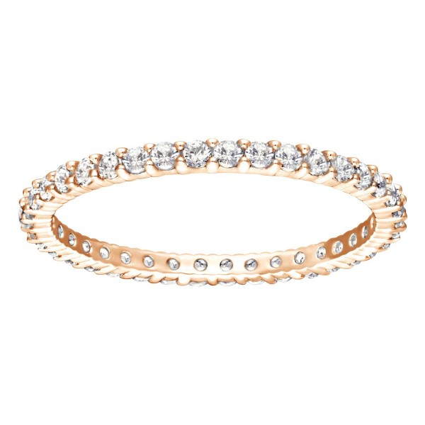 SWAROVSKI VITTORE RING CZWH/ROS 52 , ROSE GOLD , CZ WHITE 5095328